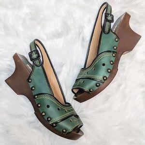 Marni Wooden Slingback Sandals